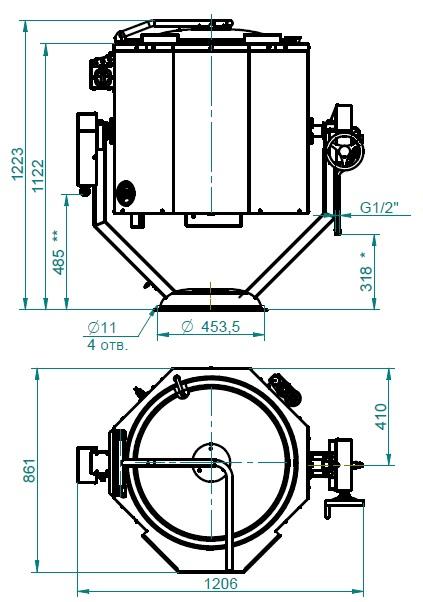 Схема пищеварочного котла КПЭМ-60 ОР