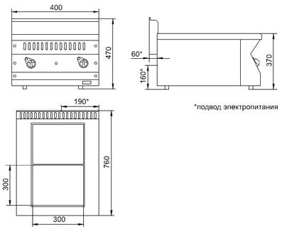 Схема плиты электрической ЭПК-27Н