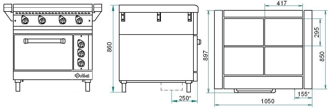 Схема плиты ЭП-4ЖШ