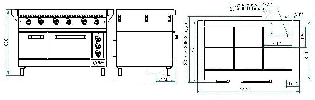 Схема плиты ЭП-6ЖШ