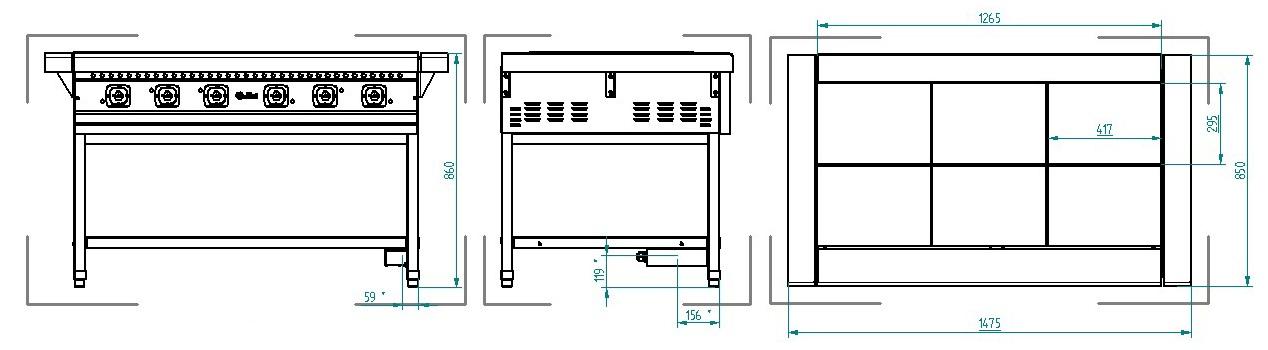 Схема плиты ЭП-6П
