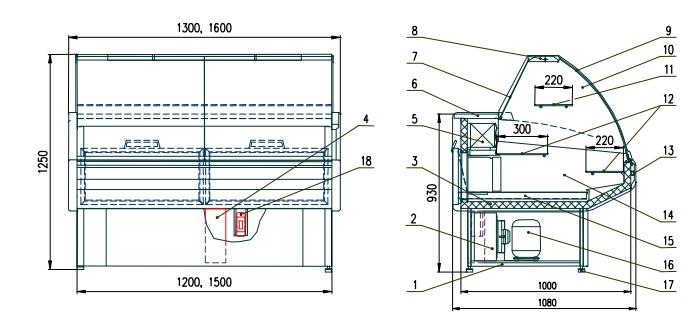Схема витрины Двина ВВК