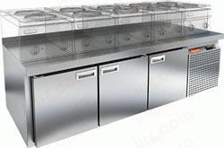 Холодильный стол с 3-мя распашными дверями
