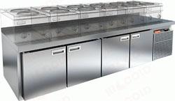 Холодильный стол с 4-мя распашными дверями