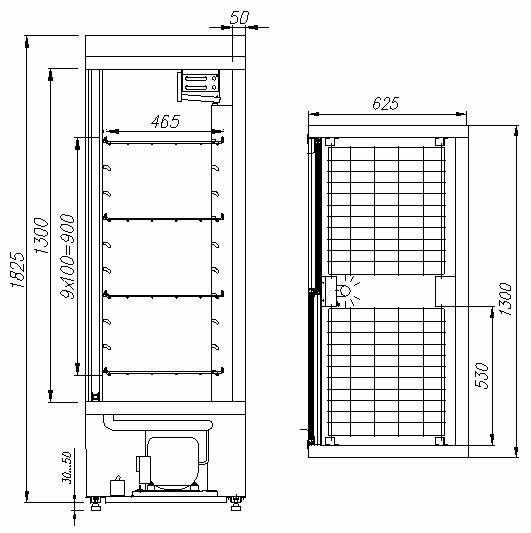 Схема: Тэги: Холодильный шкаф